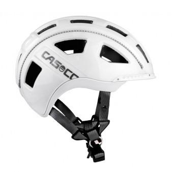 CASO E.Motion Fahrradhelm in Weiß Denim glänzend