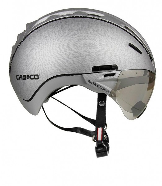 CASCO Roadster Reiterhelm mit Klappvisier in Silber Denim