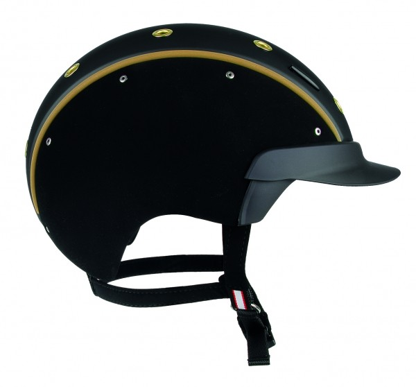 CASCO Spirit 6 Reiterhelm in schwarz-gold