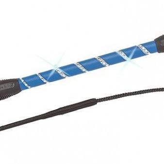 Feldmann Balance Gerte mit Ledergriff und Strassverzierung bei ICE-line kaufen