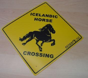 "Schild ""Icelandic Horse Crossing"" 1"